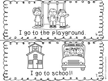 I GO to School- Emergent Reader