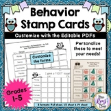 Behavior Stamp Cards A Simple Behavior Program That Helps