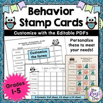 Behavior Stamp Cards A Simple Behavior Program That Helps