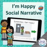 I Get Happy Interactive Social Narrative BOOM Cards™ digit