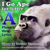 I Go Ape children's educational phonics musical CD