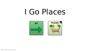 I Go Places - AAC Navigation Book
