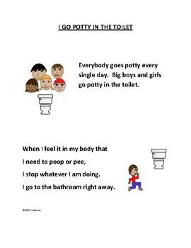 I Go Potty In The Toilet Social Story