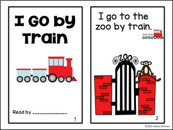 I Go by Train Reader & Build-A-Book for transportation {Young Readers, ESL, EFL}