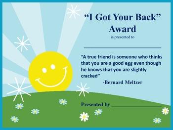 I Got Your Back Award