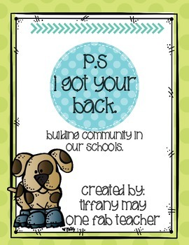 I Got Your Back! Building Community In Our Schools