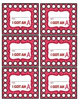 I Got an A Punch Cards