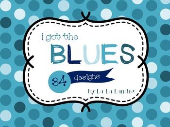 I Got the Blues Digital Paper Bundle