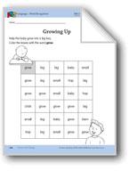 I Grow and Change: Language and Math Activities