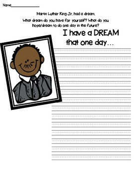 I HAVE A DREAM that one day... Martin Luther King Jr. Activity