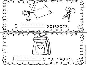 I HAVE School Supplies- Emergent Reader