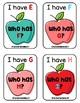 I HAVE WHO HAS: Alphabet