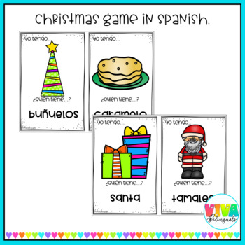 I HAVE...WHO HAS...? Christmas game in spanish