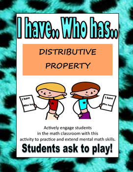 I HAVE WHO HAS- DISTRIBUTION
