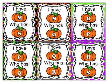 Kindergarten Halloween Center I Have Who Has {Free}