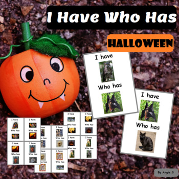 I Have Who Has Activity - Halloween Speech Therapy