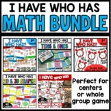 I HAVE WHO HAS MATH GAMES BUNDLE