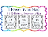 I HAVE, WHO HAS: Numerals 41-50 with BEFORE, AFTER, BETWEE