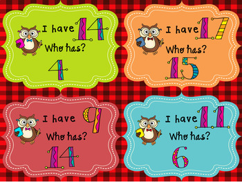 I HAVE ... WHO HAS? - PRACTICE NUMBERS 1 TO 20 (2 VERSION) - 52 CARDS