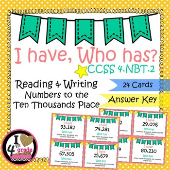I HAVE WHO HAS:  Reading and Writing Numbers Ten Thousands Place
