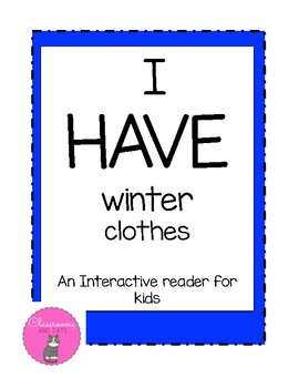 I HAVE winter clothes interactive sight word reader