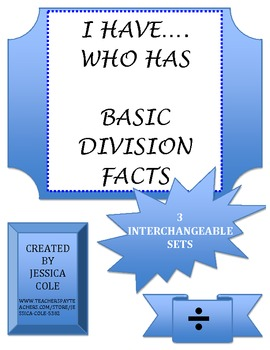 I HAVE...WHO HAS (DIVISION)