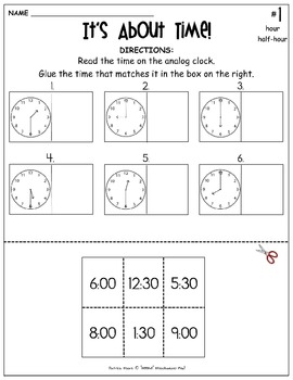 "I HAVE…WHO HAS? (Wrap-Around game) ""It's About TIME!"" with 4 Follow-Up sheets"