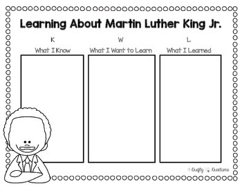 Black History Craft {Martin Luther Kings Jr. I Have A Dream Writing Prompts}
