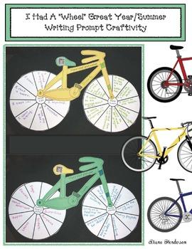 "I Had A ""Wheel"" Great Year/Summer Writing Prompt Craftivity"