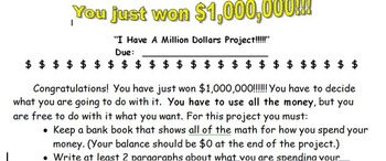 I Have $1,000,000 Math Project