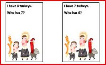 I Have 20 Turkeys. Who has 19?