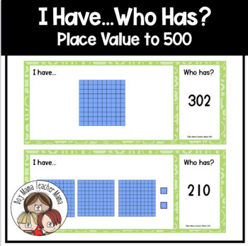 I Have... Who Has? A Place Value to 500 Game