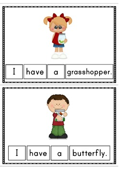 I Have A Bug Easy Reader Patterned Sentences for Beginning Readers