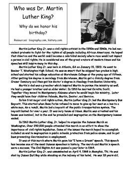 I Have A Dream - Martin Luther King Jr. Speech Writing activity