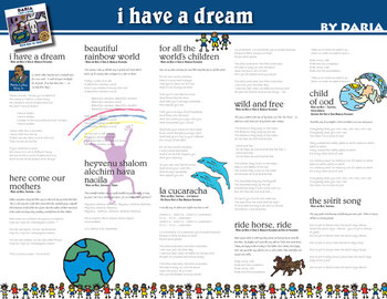 I Have A Dream - Multicultural Children's Music CD by DARIA (Digital)
