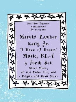 I Have A Dream Music, ELA: 3 Item Set  (MLK Jr)