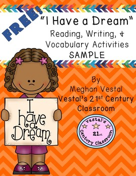I Have A Dream Reading, Writing, & Vocab Sample