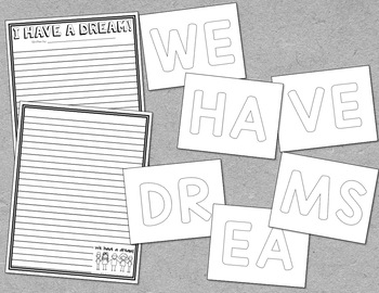 Black History Month - I Have A Dream Writing Activity (Martin Luther King Day)