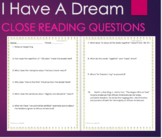 I Have A Dream by Martin Luther King Close/Guided Reading