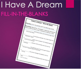 I Have A Dream by Martin Luther King Fill-In the Blank Rhe