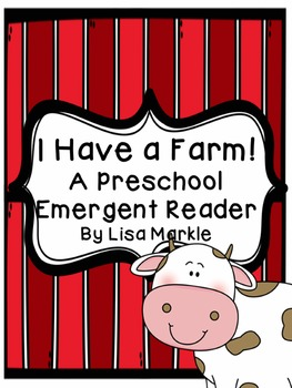 Farm Animals Emergent Reader for Preschool and Kindergarten