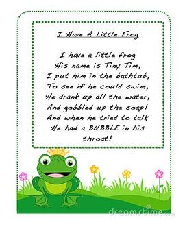 I Have A Little Frog Poetry Journal By Kindergarten Wars Tpt