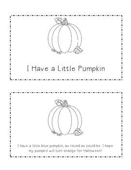 I Have A Little Pumpkin: Emergent Reader