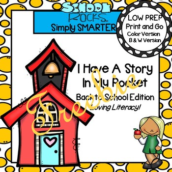 I Have A Story In My Pocket:  LOW PREP Back to School Storytelling Activities
