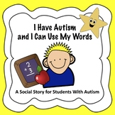 Visual Social Story for Students with Autism - Behavioral Management