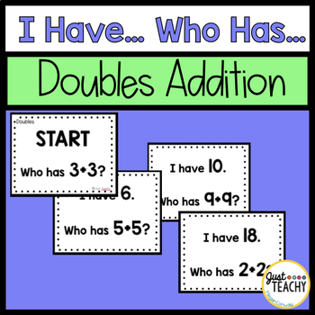 I Have, Who Has, Doubles Addition Game