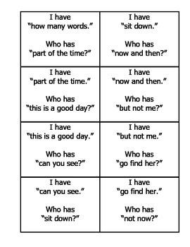 I Have Fluency Game