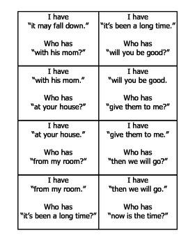 I Have Fluency Game (2nd deck)