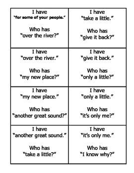 I Have Fluency Game (3rd deck)
