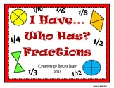 I Have Fractions Game